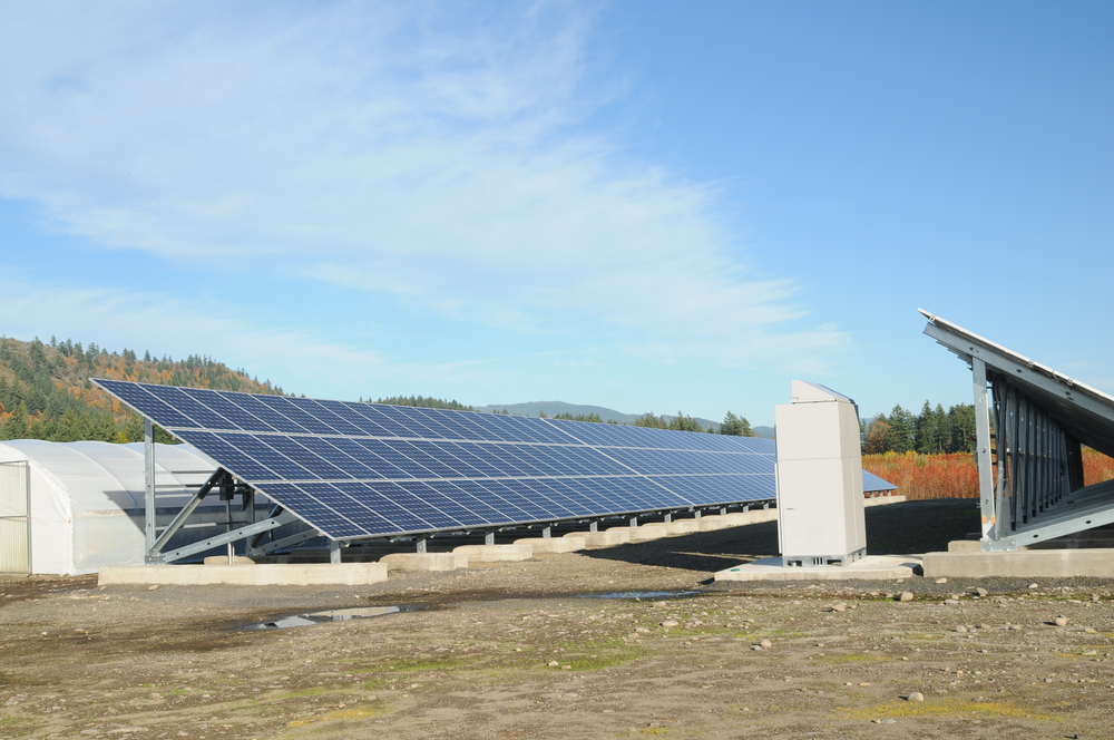 Grid-tie solar array powers our greenhouses